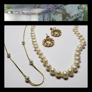 Vintage & New 3 Piece Pearl Set for Animal Rescue